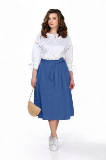 блуза,  юбка TEZA 163 синий