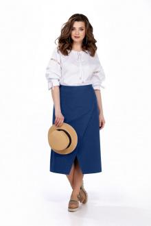блуза,  юбка TEZA 166 синий
