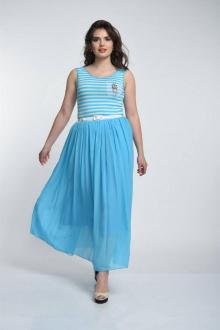 платье Luana Plus 102 голубой