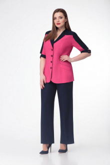 брюки,  жакет Gold Style 2303 розовый+черный