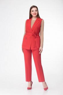 брюки,  жилет Gold Style 2305 красный
