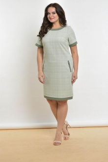 Lady Style Classic 1427-2 бледно-зеленая_клетка