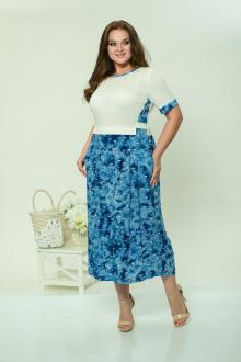 Lady Style Classic 1581 белый+синий