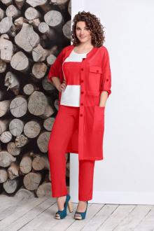 блуза,  брюки,  кардиган Mubliz 355 красный
