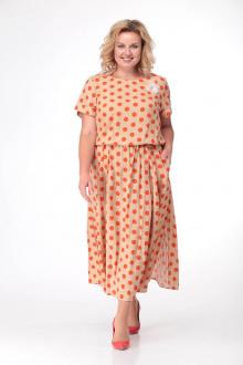 LadisLine 1089 оранжевые_горохи