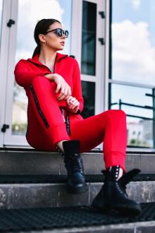брюки Rawwwr clothing ВТ004 красный