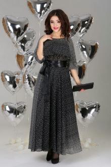 платье Anastasia 063 черный_с_белым