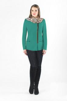 пальто Luana Plus 345 бирюза