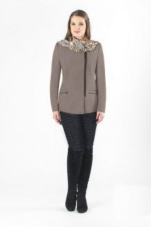 пальто Luana Plus 345 капучино