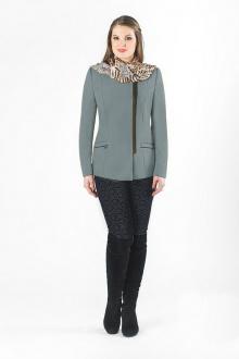 пальто Luana Plus 345 серо-голубой