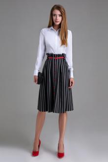 юбка Панда 452350 серо-черный