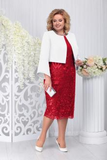 жакет,  платье Ninele 5744 красный+белый