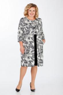 пальто,  платье LaKona 838-1 черный-молоко