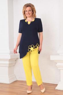 Асолия 1140 темно-синий+желтый