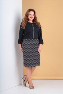 жакет,  платье Moda Versal П2123 т.синий