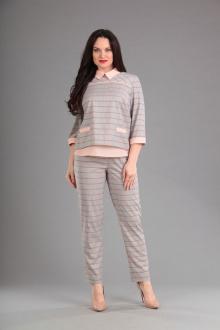 Lady Style Classic 1393 серый-розовый