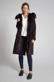 пальто Gotti 163-6м бордовый