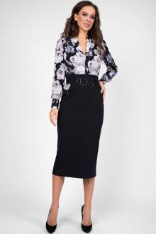 Teffi Style L-1449 черный-графитовые_цветы