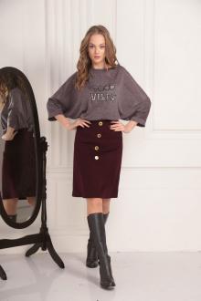 свитер AMORI 6188 баклажан