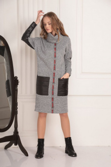 платье AMORI 9447 серый
