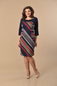 Lady Style Classic 1160 т.синий-красный