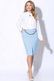 блуза,  юбка LeNata 21101 светло-голубой
