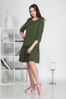 Платье Ивелта плюс 1677 зеленый