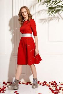 платье AMORI 9457 красный