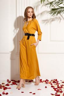 Платье AMORI 9463 горчица
