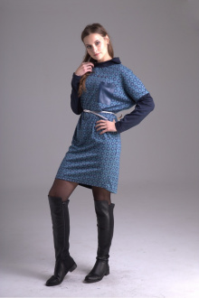 платье AMORI 9245 синий