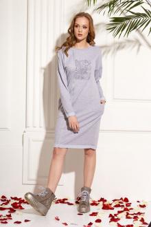 платье AMORI 9454 серый