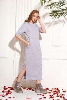 Платье AMORI 9456 серый