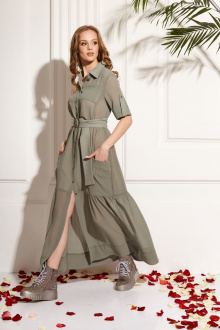 платье AMORI 9465 оливка