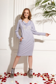 платье AMORI 9471 серый