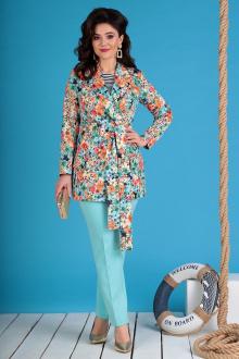 Мода Юрс 2369-1 голубые_цветы