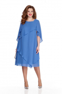 платье TEZA 722 голубой