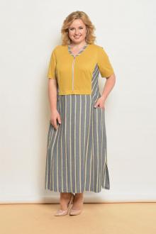 Lady Style Classic 1586/1 горчица-серый