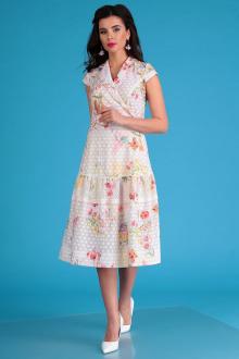 Мода Юрс 2555 молочный_цветы