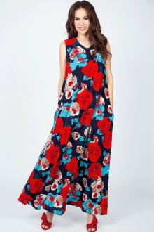 Teffi Style L-1390 красные_цветы