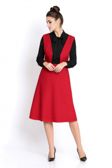 блуза,  сарафан PiRS 280 красный+черный