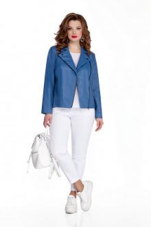 брюки,  куртка TEZA 646 синий+белый