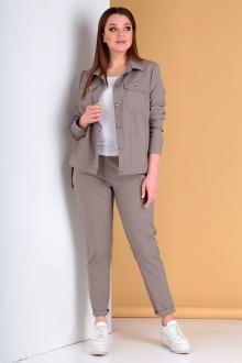 брюки,  куртка Liona Style 694 кофейно-серый