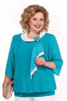 Блуза Pretty 380 бирюза