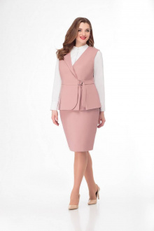 жилет,  юбка Gold Style 2413 розовый