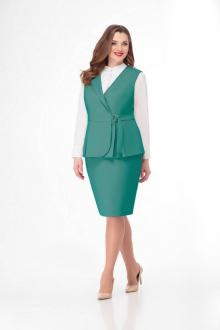 жилет,  юбка Gold Style 2413 зеленый