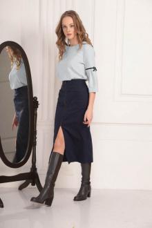 блуза AMORI 6195 серо-голубой