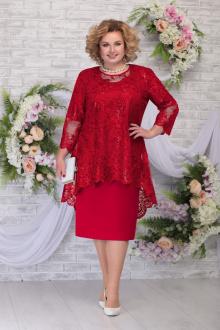 блуза,  платье Ninele 5842 красный