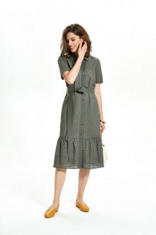 платье TEZA 1351 хаки