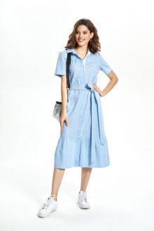 платье TEZA 1351 голубой