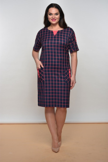 Lady Style Classic 1158 синий+коралл